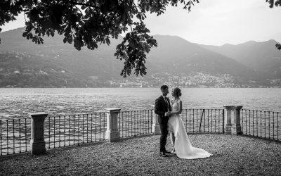 Servizio per matrimonio elegante sul Lago di Como