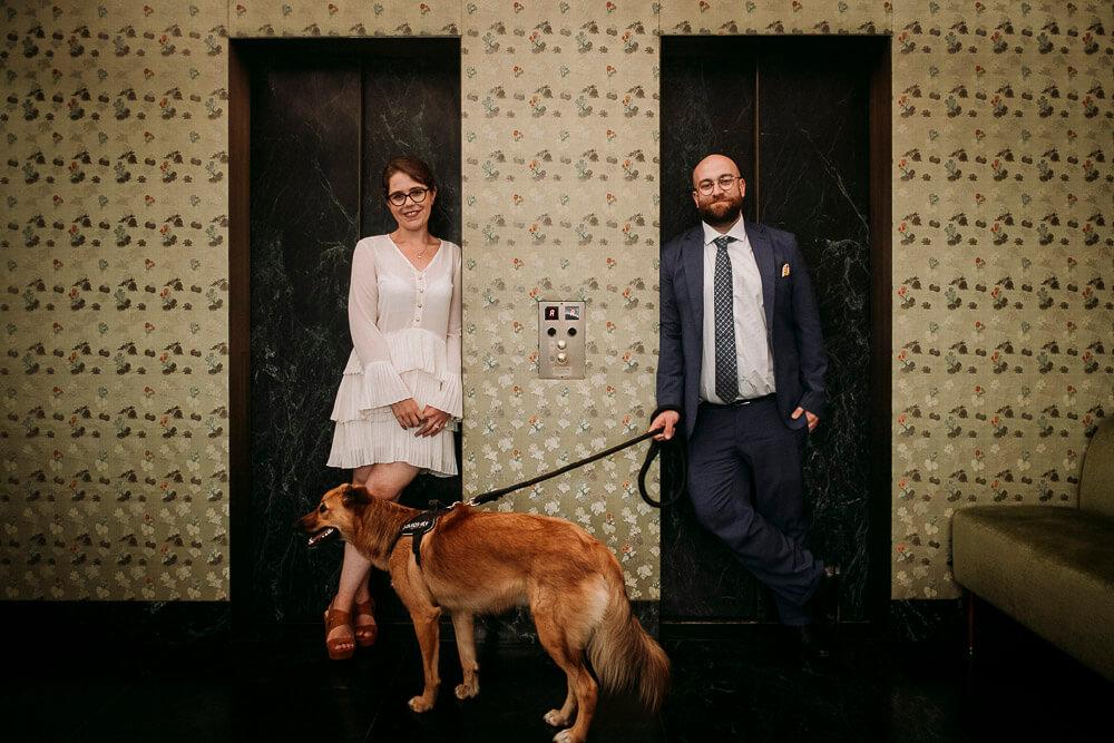 Servizio fotografico per matrimonio intimo a Milano, presso Palazzo Reale