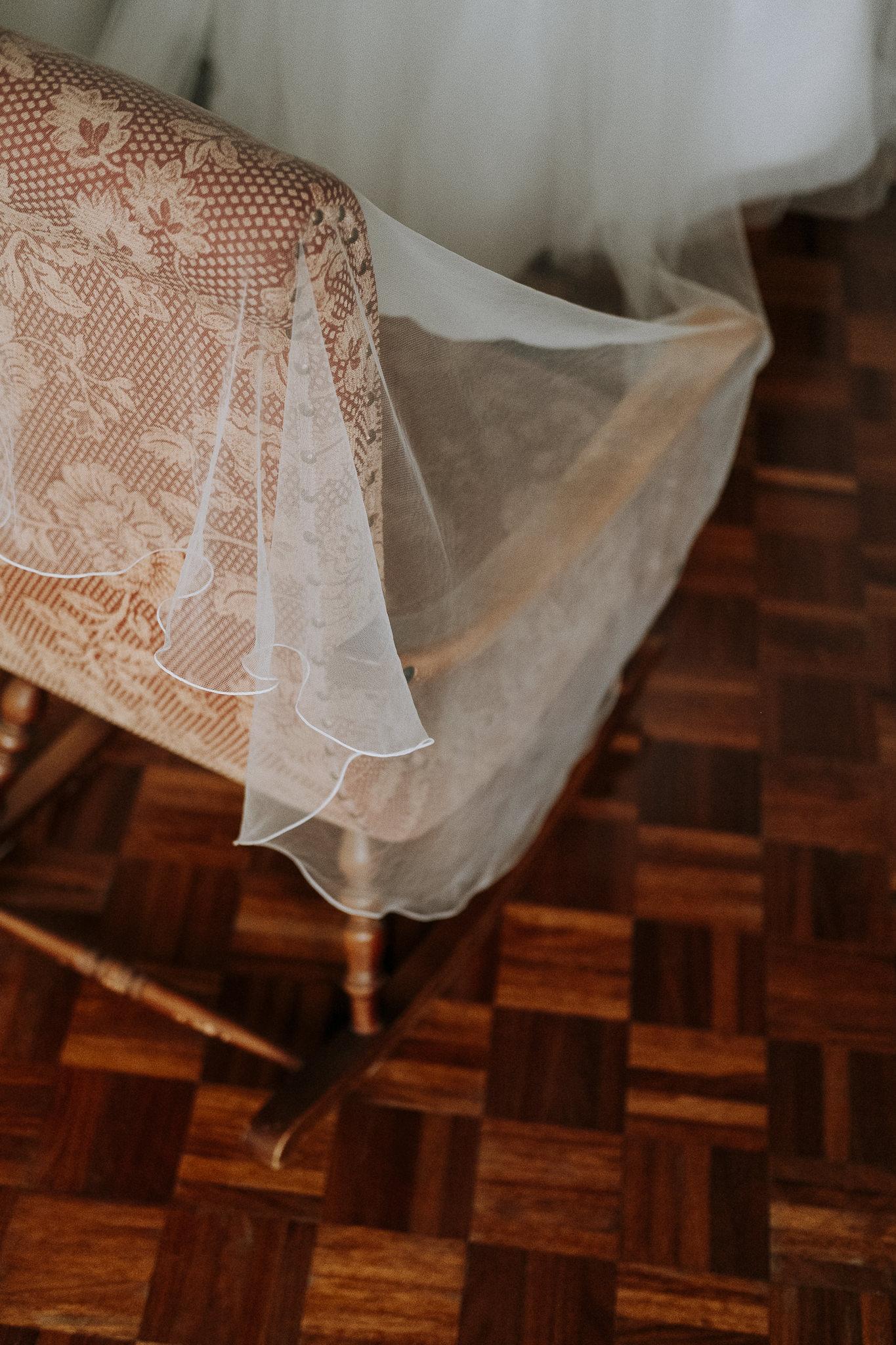 Fotografo Matrimonio Dettagli Velo Sposa